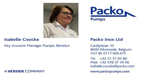 Isabelle Coucke wordt Key Account Manager Pumps, Benelux